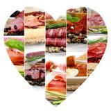 Préparation de jambon et de salami Image libre de droits