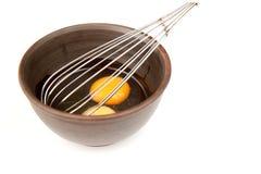 Préparation de l'omelette Photographie stock libre de droits