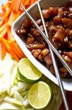 Préparation de la nourriture coréenne Photo stock
