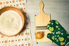Préparation de la pâte Images stock