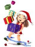 Préparation de Noël Image libre de droits