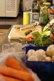 Préparation de nourriture images libres de droits