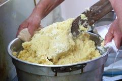 Préparation de pâte image stock