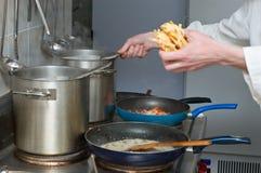 Préparation de pâtes image stock