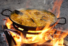 préparation de Paella Image libre de droits