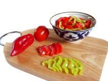 Préparation de salade Image stock