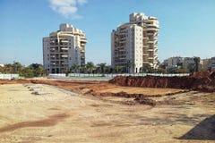 Préparation de site pour la tour de résidence d'histoire de la construction 15 Photographie stock libre de droits
