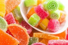 Préparation de sucrerie de fruit images libres de droits