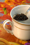 Préparation de thé Photographie stock