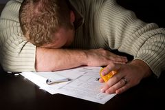 Préparation des impôts Photo libre de droits