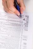 Préparation des impôts Photographie stock