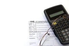 Préparation des impôts Photographie stock libre de droits