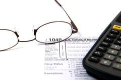 Préparation des impôts Photo stock