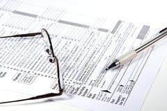 Préparation des impôts Images stock