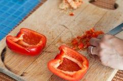 Préparation des légumes photographie stock libre de droits