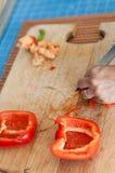 Préparation des légumes images libres de droits