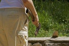 Préparation du bois de chauffage Photos stock