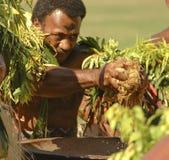 Préparation du Kava photographie stock libre de droits
