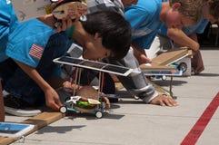 Préparation du véhicule solaire d'hamburger Photo libre de droits