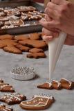 Préparation fraîche de biscuits de Noël Image stock