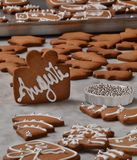 Préparation fraîche de biscuits de Noël Image libre de droits