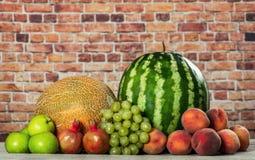 Préparation organique fraîche de fruits image stock