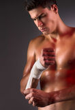 Préparation pour combattre. Image libre de droits