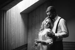 Préparation pour la cérémonie de mariage de deux amants image libre de droits