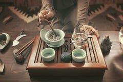 Préparation pour la cérémonie de thé Photo libre de droits