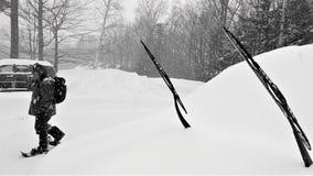 Préparation pour la tempête du nord-est d'hiver photographie stock
