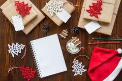 Préparation pour le concept de vacances de nouvelle année Images libres de droits