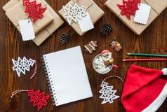 Préparation pour le concept de vacances de nouvelle année Photos libres de droits