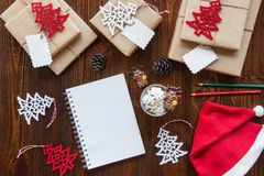 Préparation pour le concept de vacances de nouvelle année Photos stock