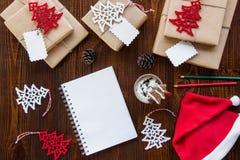 Préparation pour le concept de vacances de nouvelle année Photographie stock