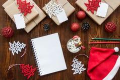 Préparation pour le concept de vacances de nouvelle année Photo stock