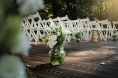 Préparations de mariage photos stock