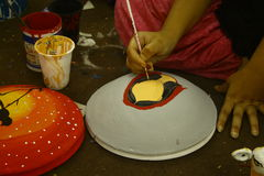 Préparations pendant année bengali de Pohela Boishakh la nouvelle dans Dhaka photos stock