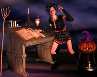 Préparations pour Halloween photos stock