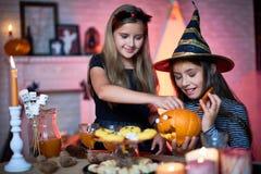 Préparations pour la partie de Halloween Photo stock