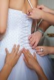 Préparations pour le mariage Photos libres de droits
