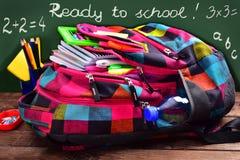 Préparez au concept d'école avec le texte écrit par la craie Images libres de droits
