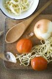 Préparez la cuisson faite maison Images stock