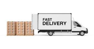 Préparez le concept d'expédition Épicerie industrielle commerciale blanche de cargaison Photos libres de droits