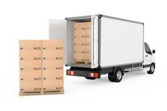 Préparez le concept d'expédition Épicerie industrielle commerciale blanche de cargaison Images stock