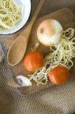 Préparez le plat de pâtes Photo stock