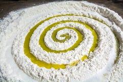 Préparez les ingrédients de pain dans la forme de galaxie Photographie stock libre de droits