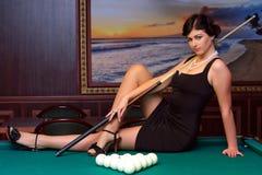 Préparez pour jouer des billards. Image stock