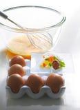 Préparez pour l'omelette Photographie stock