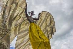 Préparez pour la concurrence : L'Échasse-marcheur principal Photos stock