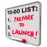 Préparez pour lancer le conseil sec d'effacement pour faire des affaires de List New Company illustration de vecteur